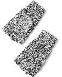 Frank + Oak - Chunky Tonal Gloves In Black Heather - Lyst