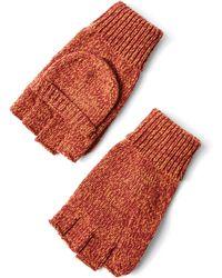 Frank And Oak - Chunky Tonal Gloves In Brick Heather - Lyst