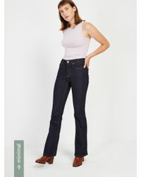 Frank And Oak - The Joni Flare Jeans In Bright Indigo - Lyst