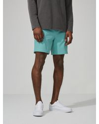 "Frank And Oak - 7"" Pull-on Swim Trunks In Seafoam - Lyst"