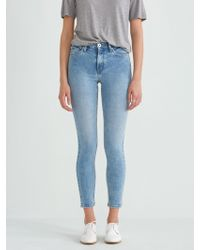 Frank And Oak - The Debbie High-waisted Skinny Jean In Light Indigo - Lyst