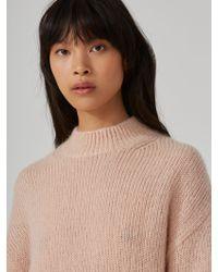 Frank And Oak - Mohair-wool-blend Sweater In Dusty Pink - Lyst