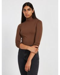 Frank And Oak - Cotton-modal Mockneck Sweater - Carafe - Lyst