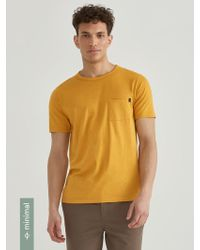Frank And Oak - Loose Fit Organic Cotton-blend T-shirt In Gold - Lyst