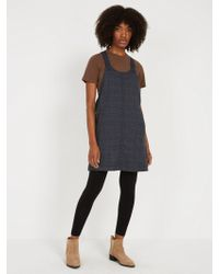 Frank And Oak - Plaid Pinafore - Navy - Lyst