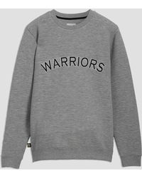 Frank And Oak - Golden State Warriors Ottoman-knit Crewneck In Grey - Lyst