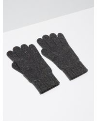 Frank And Oak - Donegal-wool Knit Gloves In Charcoal - Lyst