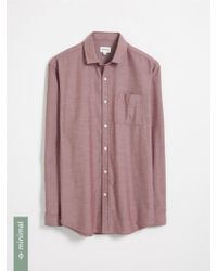 Frank And Oak - Recycled Polyester Blend Shirt - Madder Brown - Lyst