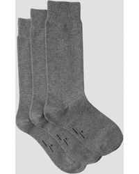 Frank And Oak - 3-pack Cotton-blend Socks In Grey - Lyst