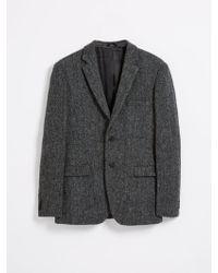Frank And Oak - Harris Tweed 2-button Laurier Blazer - Charcoal Herringbone - Lyst
