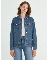Frank And Oak - Oversized Denim Jacket In Light Indigo - Lyst