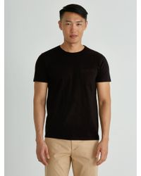 Frank + Oak - Crewneck Pocket T-shirt In Black - Lyst