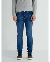 Frank And Oak - The Tyler Skinny-fit Stretch Jean In Indigo - Lyst