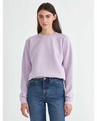 Frank And Oak - The Vintage Wash Gym Sweatshirt In Lavender Frost - Lyst