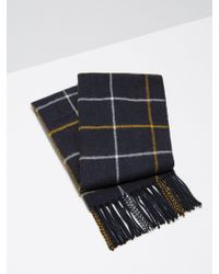 Frank And Oak - Wool-blend Windowpane Scarf In Dark Sapphire - Lyst