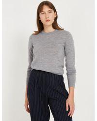 Frank And Oak - Machine Washable Merino Wool Sweater - Grey - Lyst