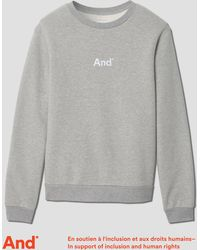 "Frank And Oak | ""and"" French Terry Crewneck In Grey Melange 