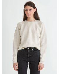 Frank And Oak - The Gym Sweatshirt In Stone Heather - Lyst