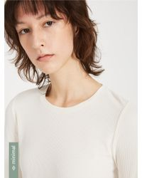 Frank And Oak - Ribbed Long Sleeved Modal-blend Crewneck - Snow White - Lyst