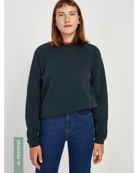 Frank And Oak - The Gym Fleece Crewneck Sweatshirt In Dark Green - Lyst