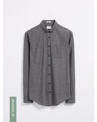 Frank And Oak - The Odessa Organic Chambray Shirt - Black - Lyst