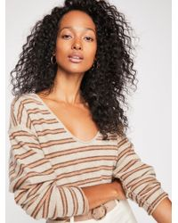 Free People - Forever Striped Cashmere Sweater - Lyst