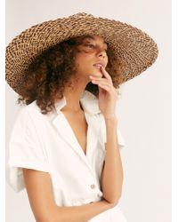 Free People - Belize Wide Brim Straw Hat By Brooklyn Hat Co. - Lyst