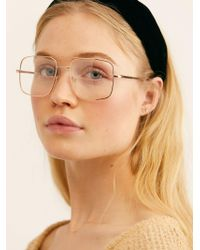 Free People - Cool Grandpa Aviator Sunglasses - Lyst
