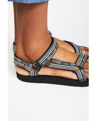 23f7b7e8208 Free People Flatform Universal Crafted Teva in Blue - Lyst
