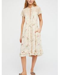 Free People | Decadent Midi Dress | Lyst