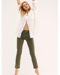 Free People - Crop Slit Bootcut Jeans - Lyst