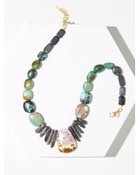Free People | Cliffside Turquoise Pendant Necklace | Lyst