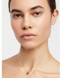 Free People - Hammered Heart Necklace - Lyst