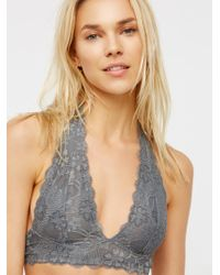cbacd194e5 Free People Galloon Lace Halter Bralette - Lyst