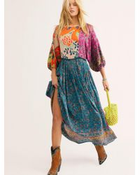 Free People - What You Want Patchwork Floral Print Maxi Dress - Lyst