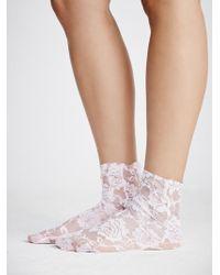 Free People - Smitten Lace Sock - Lyst