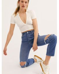 Free People - Nico Tapered Boyfriend Jeans By We The Free - Lyst