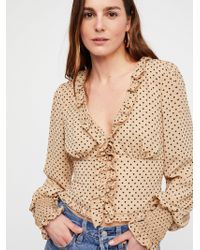 Free People - Smell The Roses Dot Top - Lyst