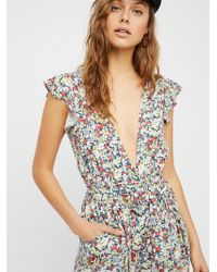 Free People - Ruffle Your Feather Printed One Piece - Lyst