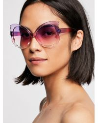 Free People - Madame Butterfly Sunnies - Lyst