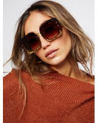 Free People | Cosmopolitan Glitter Sunglasses | Lyst