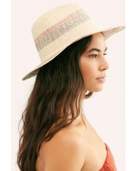 Free People - Sand Bar Stripe Straw Hat - Lyst