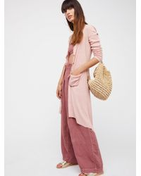 Free People | Ribbed Up Maxi Cardigan | Lyst