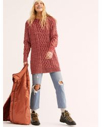 50453b93d76 Free People On A Boat Sweater Dress in Pink - Lyst