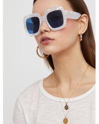 Free People - Real Deal Oversized Sunnies - Lyst