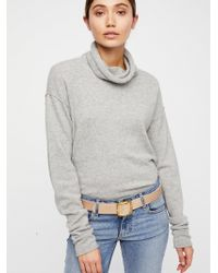 Free People - Downtown Leather Belt - Lyst