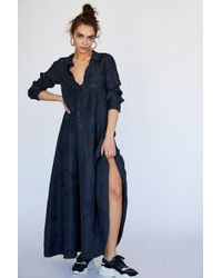 Free People - Orion Silk Maxi Dress - Lyst