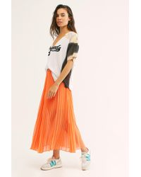 Free People - Pleated Party Skirt - Lyst