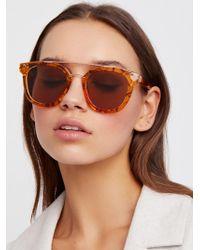 Free People - Laguna Aviator Sunglasses - Lyst