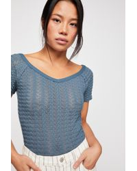 Free People - We The Free Frenchie Raschel Tee - Lyst 9d8d71bc1
